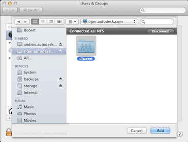 How to access to a Linux NFS share on Mac OSX | Flame